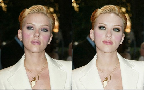 celebrities before and after photoshop, Scarlett Johansson