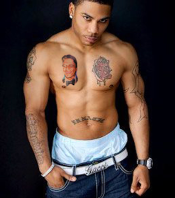 nelly, tony danza tattoo, nelly tattoos