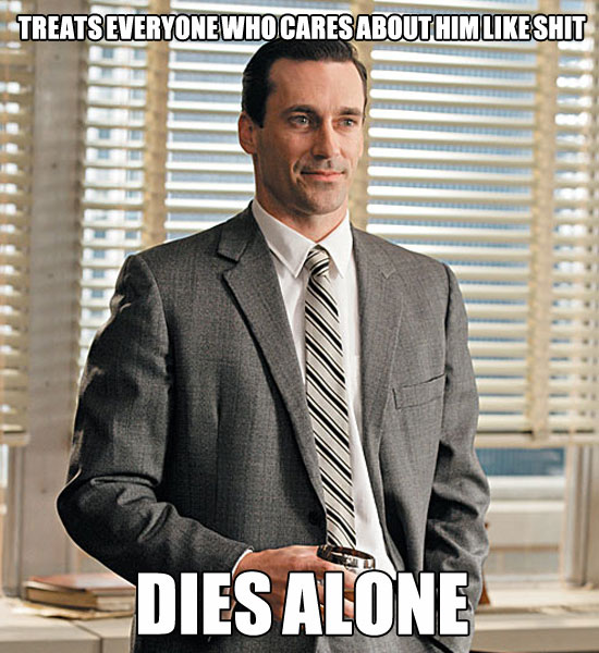 real life don draper meme, dies alone