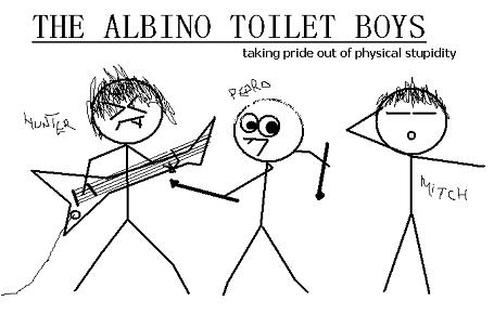 the albino toilet boys, worst band names