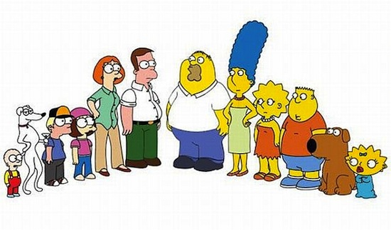 simpsons family guy mashup