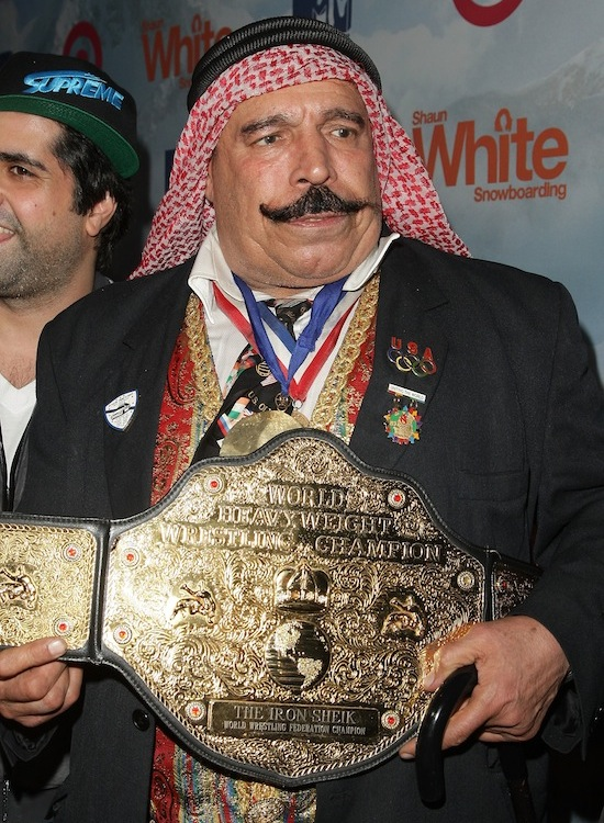 the iron sheik, world heavyweight champion belt