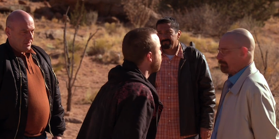jesse spitting in walt's face, breaking bad to'hajiilee