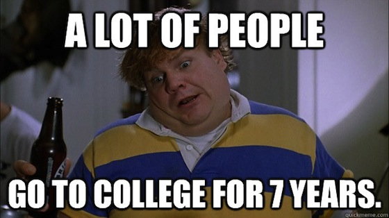 tommy boy, college 7 years