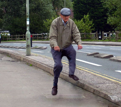 invisible bikes, old man