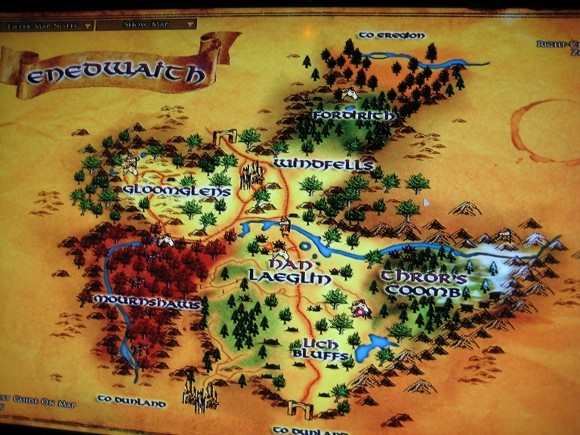 lord of the rings online map