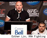 Dana White and a host of fighters will answer questions at the UFC 128 press conference.