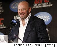 Dana White will speak at the UFC 129 post-fight press conference Saturday night in Toronto.