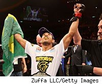 Jose Aldo retains his UFC featherweight title with his win over Chad Mendes at UFC 142.