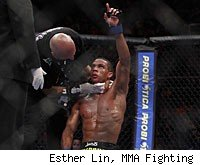 Edson Barboza knocks out Terry Etim at UFC 142.