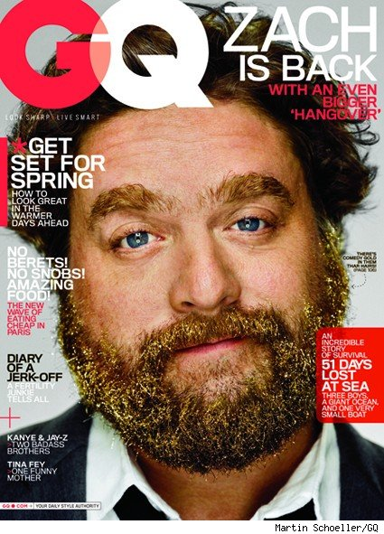 zach galifianakis gq cover. Zach Galifianakis Takes a Bath