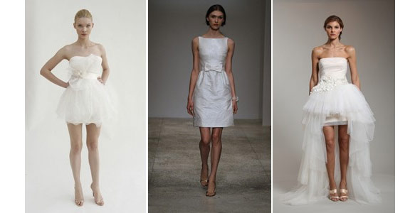 Marchesa, Amsale images courtesy of Dan Lecca; Reem Acra wedding dresses