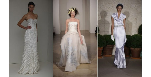 Monique Lhuillier, Douglas Hannant, Oscar de la Renta wedding dresses