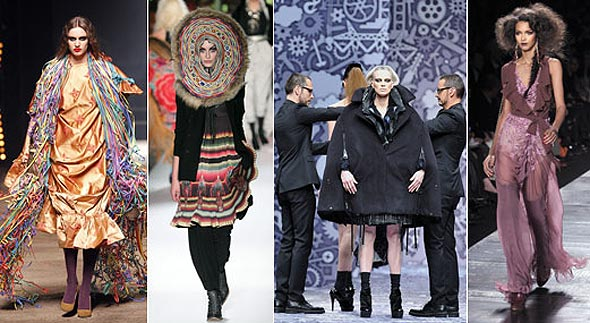Vivienne Westwood, Jean Paul Gaultier, Viktor & Rolf, Dior paris fashion week