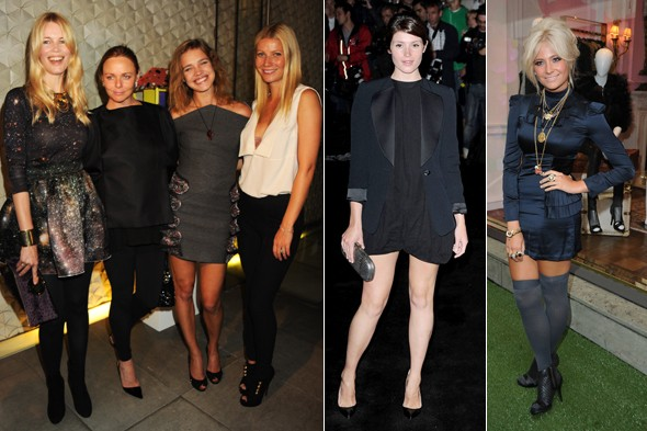 Claudia Schiffer, Stella McCartney, Natalia Vodianova, Gywneth Paltrow, Gemma Arterton, Pixie Lott, Fashion's Night Out