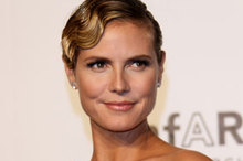 Making waves: Heidi Klum channels 30s glamour