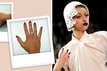 I tried it: Sophy Robson's half-moon manicure