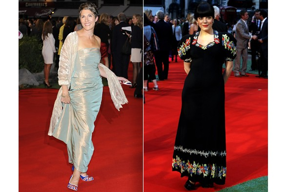 Tamsin Greig and Lily Allen at Tamara Drewe premiere