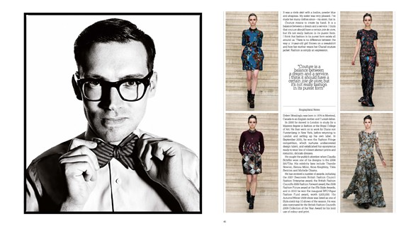 Erdem in Harrods book