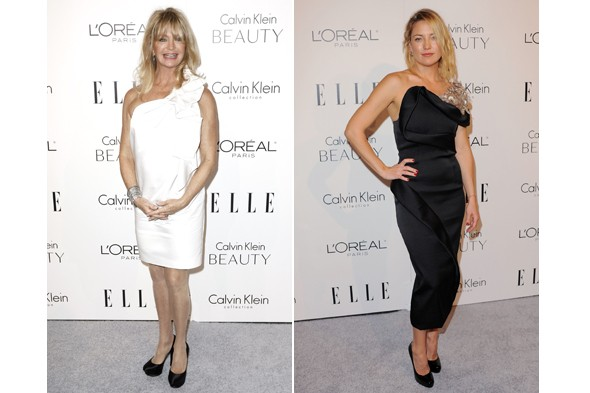 Goldie Hawn, Kate Hudson at Elle women in Hollywood party