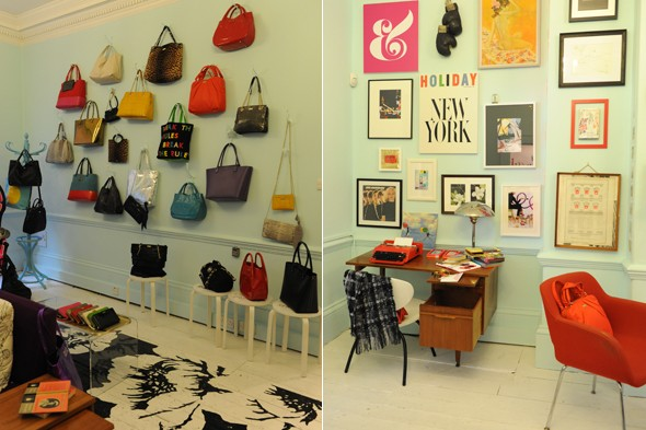 Kate Spade pop-up shop interior