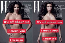 Kim Kardashian poses naked for W magazine