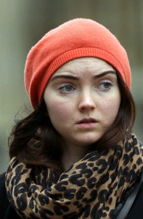 Lily Cole brunette