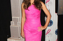 Liz Hurley is pretty in pink at Breast Cancer Awareness photocall