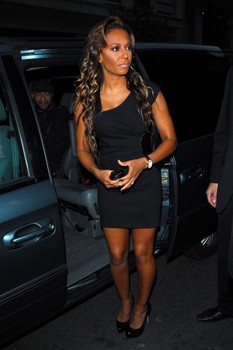 Mel B out in London