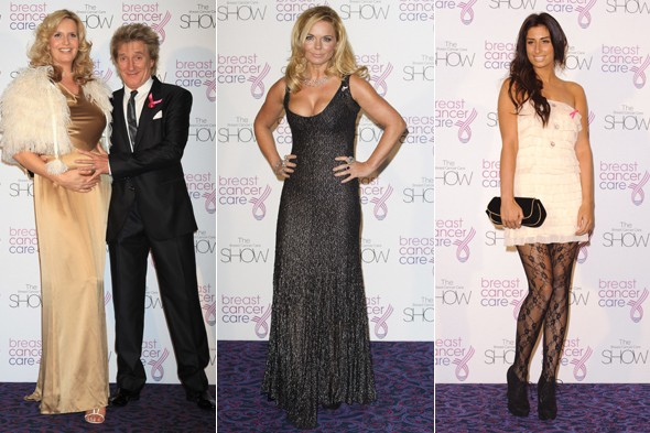 Penny Lancaster, Rod Stewart, Geri Halliwell, Stacey Solomon at the Breast Cancer Care Fashion Show