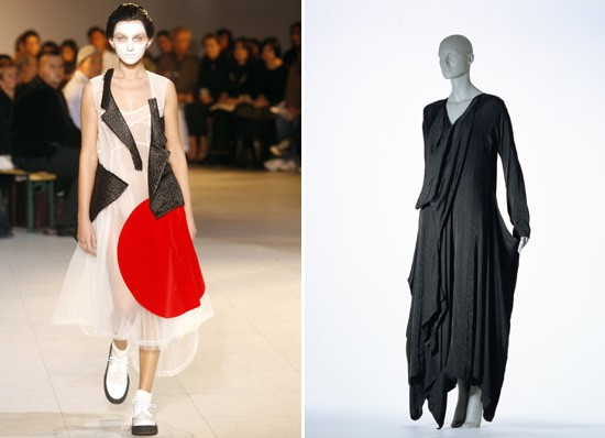 Rei Kawakubo/Comme des Garcons from s/s 2007 and a/w 1983-4