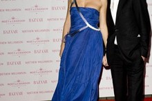 Feeling blue: Sienna Miller dazzles at Matthew Williamson launch