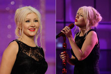 Get the look: Christina Aguilera's undone updo