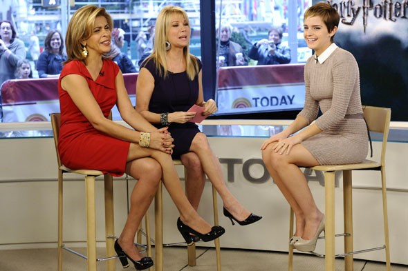Emma Watson on the NBC Today Show. Photo: AP