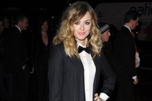 Fearne Cotton mans up in a tux and bow tie