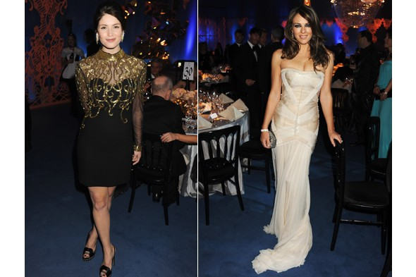 Gemmar Arterton, Liz Hurley, Elton John Aids Foundation Winter Ball