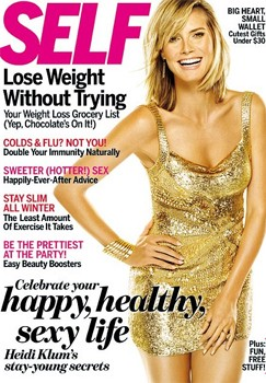 Heidi Klum Self magazine cover