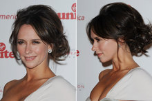 Get the look: Jennifer Love Hewitt's undone updo