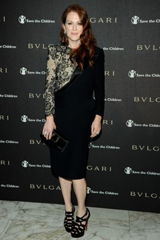 Julianne Moore Bulgari party
