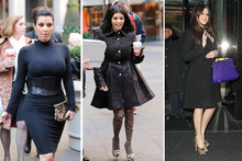 Sister style: Kardashian girls rock jungle print in New York