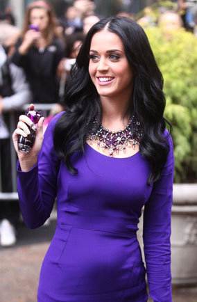 Katy Perry Purr perfume Katy Perry looks purr-fectly happy at perfume launch ...