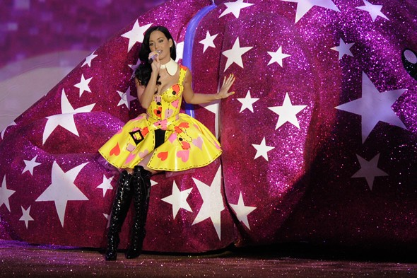 Katy Perry performs at Victoria's Secret show