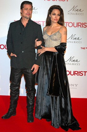 Angelina Jolie and Brad Pitt The Tourist red carpet