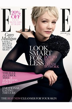 Carey Mulligan on Elle cover