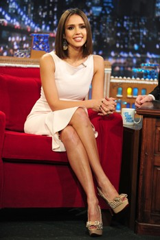 Jessica Alba on the Jimmy Fallon show