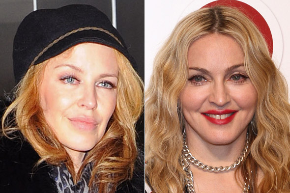 Kylie Minogue and Madonna
