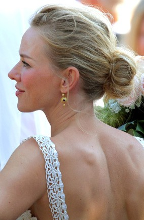 Bridesmaid Naomi Watts looked pretty as a picture at the wedding of her