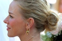 Get the look: Naomi Watts' bridesmaid bun