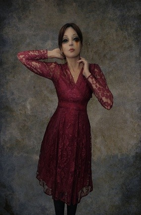 Pearl lowe red lace dress peacocks store