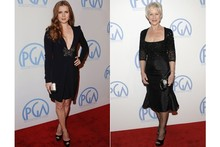 Amy Adams and Helen Mirren go back to black on the red carpet